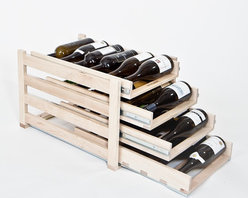 Wine Logic - Wine Logic In-Cabinet Wine Storage, 4 Tier (24 Bottles) - Wine Logic wine racks approach home wine storage with thoughtful design, quality craftsmanship and a connoisseur's insight. The result is a high-end wine storage solution that easily resolves the challenges of space, clutter, cost and more.