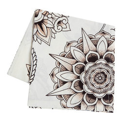 Sin in Linen - Henna Tattoo Tea Towel - Bring the spice of the middle east into your home with this henna tattoo print.