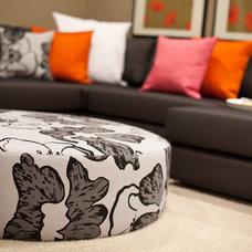 Contemporary Family Room by Natalie Fuglestveit Interior Design