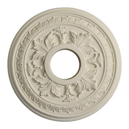 uDecor - MD-5006 Ceiling Medallion - Ceiling medallions and domes are manufactured with a dense architectural polyurethane compound (not Styrofoam) that allows it to be semi-flexible and 100% waterproof. This material is delivered pre-primed for paint. It is installed with architectural adhesive and/or finish nails. It can also be finished with caulk, spackle and your choice of paint, just like wood or MDF. A major advantage of polyurethane is that it will not expand, constrict or warp over time with changes in temperature or humidity. It's safe to install in rooms with the presence of moisture like bathrooms and kitchens. This product will not encourage the growth of mold or mildew, and it will never rot.