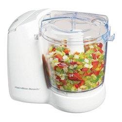 Hamilton Beach - Hamilton Beach - Food Chopper - 3 cup capacity. 2 speeds. Hidden cord storage. Dishwasher safe bowl - lid and blade. Oil dispenser. 135 watts