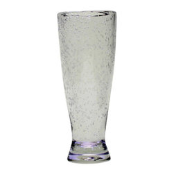 """Tag - Tag Bubble Glass Pilsners - Set of 6 Multicolor - 555164 - Shop for Drinkware from Hayneedle.com! Beloved by Bavarians and approved by beer aficionados the Tag Bubble Glass Pilsners - Set of 6 will soon have your guests swooning too. Contemporary cool and playful this set of six eclectic glass pilsners is the ideal addition to your next casual gathering. Their unique bubbled design will complement whatever pilsner you've got on tap for the day. The durable glass construction is made to withstand more than a few raucous receptions. Just be sure and hand-wash these uniquely modern glass pilsners to keep your beer aficionados satisfied.About TagFounded by NYU graduate and current owner Norman Glassberg in 1975 Tag is a leader in textiles gifts and furnishings and manufactures their products in nine different countries. With a huge variety of products available to enhance the beauty and comfort of your home Tag focuses their attention on the idea of a """"central look"""" with all of their pieces - you can tell a Tag furnishing by its distinctive clean-lined style that's unlike anything else. Today Tag's main goal (aside from maintaining their unique aesthetic) is to bring you high quality affordable products you'll be proud to use and display."""