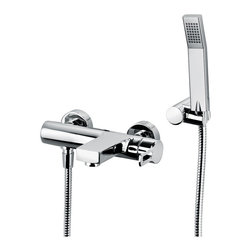 WS Bath Collections - WS Bath Collections Ringo Bath & Shower Mixer in Polished Chrome - Bath/ Shower Mixer with Shower Set
