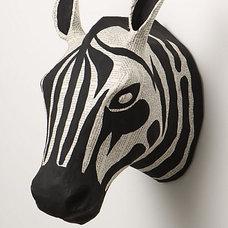 Eclectic Home Decor Savannah Story Bust, Zebra