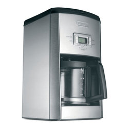 Delonghi - Coffee Maker, 14 Cup - There will be plenty of coffee for everyone with DeLonghi's DC514T 14-Cup Programmable Coffee Maker. The advanced water filtration optimizes your coffee's taste by eliminating the chlorine in the water. The aroma button activates a time-released process to extract ideal flavor and aroma from your coffee. And the freshness indicator lets you know how long the coffee has been standing. No more stale coffee with DeLonghi's DC514T!14-cup (70-ounces) capacity|Advanced water filtration removes chlorine|Aroma button for ideal flavor and aroma|Freshness indicator|24-hour programmable timer with 2-hour automatic shut-off|Permanent gold-tone filter|  delonghi| dc514t| 14-cup programmable coffee maker| coffee maker| programmable coffee maker  Package Contents: coffee maker|manual / warranty  This item cannot be shipped to APO/FPO addresses