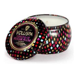VOLUSPA - (Holiday) Petite Decorative Tin Candle - Visions Of Sugar Plum - Visions of sugar plum.
