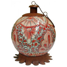 Tropical Lighting Mexican Clay Pottery Oil Lamp