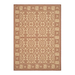 Safavieh - Safavieh Courtyard Cy5146A Rust / Sand Area Rug - Traditional patterns and classic beauty are found in the area rugs of the Courtyard collection. Made in Belgium of enhanced polypropylene, these rugs are extremely durable and perfect for indoor or outdoor use. The area rugs of the Safavieh Courtyard collection offer highly detailed and sophisticated designs created through an unusual sisal weave. Select the colors, design, and style that will compliment any room in your home in round, rectangular or runner rugs.