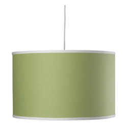 Oilo - Solid Large Cylinder, Spring Green - The classic drum shade works beautifully in most spaces. It can pull in a needed pop of color while ensuring a soft glow to any part of your room. A white acrylic sheet diffuses the light, and a 55-inch cord allows you maximum flexibility in adjusting to your desired height. You really can't go wrong with this iconic light.