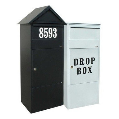Qualarc, Inc. - Allux 800 Mailbox, Black - Allux 800 Mail/Parcel Box. Do you need more room? Our parcel mailboxes can easily hold two weeks of mail. Made of strong, galvanized steel and available in grey and black colors. Letter/parcel flap with soft closing mechanism: elegant and silent. Fitted with a ruko lock.