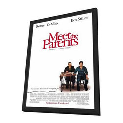 Meet the Parents 27 x 40 Movie Poster - Style A - in Deluxe Wood Frame - Meet the Parents 27 x 40 Movie Poster - Style A - in Deluxe Wood Frame.  Amazing movie poster, comes ready to hang, 27 x 40 inches poster size, and 29 x 42 inches in total size framed. Cast: DeHuff, Nicole