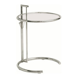 Round Adjustable End Table -