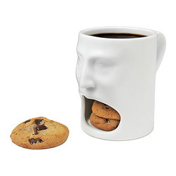 Face Mug - Oh dear, Mrs. Fields has been reading those cross-marketing books again. What's next? Cookie dough antacids.