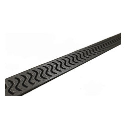 "Quartz by Aco - Quartz by Aco Linear Drain Flag Design Flange Body, Oil Rubbed Bronze, 40"" - Quartz Flange Edge Linear Shower Drain Flag Design"