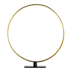 Arteriors - Gregory Ring Sculpture, Small - This simple polished brass ring is a great graphic sculpture by itself, and even more impactful when shown in multiples to create interlocking circular patterns.