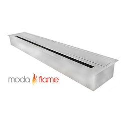 "Moda Flame - Moda Flame 47"" Ethanol Fireplace Burner Insert - Moda Flame 47 Inch ethanol fireplace insert burner box can be used in most settings where you want to have a naked flame. Placed discretely into a already existing fireplace or you could make an effective lighting choice outdoors built into your garden. Recommended to be used with Moda Fuel ethanol fireplace fuel which provides a smokeless and odor free easy accessible fuel."