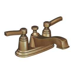 Moen - Moen S6201AZ Two-Handle Low Arc Bathroom Faucet - The Rothbury series features a relaxed blend of vintage design and traditional elements that coordinate perfectly with both casual and luxurious decorating.