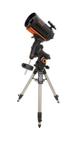 "Celestron CGEM 800 Schmidt-Cassegrain Telescope - Celestron's CGEM-800 features our high-end 8"""" Schmidt Cassegrian OTA with XLT coatings mounted on our brand new CGEM™ mount. The Celestron CGEM™ mount has a fresh attractive bold appearance and is capable of carrying Celestron's higher-end SCT optical tubes (up to 11"""") securely and vibration free which is ideal for both imaging and visual observing. Ergonomic Design - CGEM was designed to be ergonomically friendly with large Altitude and Azimuth adjustment knobs for quick and easy polar alignment adjustment. The internal RA and DEC motor wiring provides a clean look and an easy and trouble free set up. Innovation - The CGEM series has a new innovative Polar alignment procedure called All-Star™ (patent pending). All-Star allows users to choose any bright star while the software calculates and assists with polar alignment. Another great feature of the CGEM sure to please astroimagers is the Permanent Periodic Error Correction (PEC) which will allow users to train out the worm gears periodic errors while the mount retains the PEC recordings. Performance - For objects near the Meridian (imaginary line passing from North to South) the CGEM will track well past the Meridian for uninterrupted imaging through the most ideal part of the sky. The CGEM mount has a robust database with over 40 000 objects 400 user defined programmable objects and enhanced information on over 200 objects. Celestron's CGEM mount is the perfect fit between the Advanced Series and CGE Series. Offering the portability of the Advanced Series and the precision of the CGE. Features: CGEM Computerized Equatorial Mount Ultra sturdy 2"""" steel tripod with Accessory Tray 40 000 object database with 400 user-definable objects and expanded information on over 200 objects Proven NexStar computer control technology Flash upgradeable hand control software and motor control units for downloading product updates over the Internet New """"All-star"""" Polar alignment uses any bright star for a quick and accurate Polar alignment 6x30 Finderscope for easy centering of objects Software Features include: Mount Calibration Database Filter Limits Hibernate five Alignment Procedures and user-defined slew limits Custom database lists of all the most famous deep-sky objects by name and catalog number; the most beautiful double triple and quadruple stars; variable star; solar systems; objects and asterisms Permanent programmable periodic error correction (PEC) - corrects for periodic tracking errors inherent to all worm drives Flash upgradeable hand control software and motor control units for downloading product updates over the Internet Custom database lists of all the most famous deep-sky objects by name and catalog number; the most beautiful double triple and quadruple stars; variable star; solar systems; objects and asterisms Steel worm gear and 90mm pitch diameter brass worm wheel Drive Motors - Low Cog DC Servo motor with integrated optical encoders offer smooth quiet operation and long life. The motor armatures are skewed to minimize cogging which is required fro low speed tracking. Internal Cable wiring for trouble-free setup and transportation Designated six-pin RJ-12 modular jack ST-4 compatible guide port Double line 16-character Liquid Crystal Display Hand Control with backlit LED buttons for easy operation of goto features Autoguide port and auxiliary ports located on the electronic pier for long exposure astrophotography RS-232 communication port on hand control to control the telescope via a personal computer Includes NexRemote telescope control software for advanced control of your telescope via computer GPS-compatible with optional CN16 GPS Accessory Specifications MOUNT: Computerized Equatorial TRIPOD: Adjustable Stainless Steel CD ROM: NexRemote control software with RS232 cable POWER SUPPLY: Car battery adapter TRIPOD WEIGHT: 17 lb (7.71 kg) MOUNT WEIGHT: 41 lb (18.6 kg) COUNTERWEIGHTS: 1 x 17 lb MOTOR DRIVE: Low cog DC Servo motors with encoders both axes COMPUTER HAND CONTROL: Double line 16 character Liquid Crystal Display; 19 fiber optic backlit LED buttons SLEW SPEEDS: Nine slew speeds: 4 °/sec 2 °/sec .5 °/sec 64x 16x 8x 4x 1x .5x TRACKING RATES: Sidereal Solar and Lunar TRACKING MODES: EQ North and EQ South ALIGNMENT PROCEDURES: AutoAlign 2-Star Align Quick Align 1-Star Align Last Alignment Solar System Align SOFTWARE PRECISION: 24bit 0.08 calculation DATABASE: 40 000+ objects 400 user defined programmable objects. Enhanced information on over 200 objects POWER REQUIREMENTS: 12 VDC 1.5 Amp GPS: Optional CN-16 GPS Accessory About Celestron Schmidt-Cassegrain Telescopes Celestron's excellent Schmidt-Cassegrain telescopes are compact and portable and represent the best all-purpose design for a wide variety of uses from terrestrial and deep sky viewing to astrophotography. Catadioptrics use a combination of mirrors and lenses to """"fold"""" (reflect) the light path and form an image. In a Schmidt-Cassegrain the light enters through a thin aspheric Schmidt correcting lens. It then strikes the spherical primary mirror. It is reflected back up the tube and intercepted by a small secondary mirror which reflects the light out an opening in the rear of the instrument where the image is formed at the eyepiece. Catadioptrics are the most popular and most modern type of telescope optical design and are marketed throughout the world in 3.5"""" and larger apertures. Catadioptric telescopes combine the practical advantages of lenses and mirrors while eliminating their disadvantages. They offer the clarity and contrast of refractors with the low aberration of reflectors. Catadioptrics have an average focal ratio of f/10 which is wide enough for all types of photography. They are also easier to maintain because all optical elements are solidly mounted and rigidly collimated. Catadioptric telescopes provide the best possible combination of light gathering power long focal length portability and affordability. Schmidt-Cassegrain Advantages Very versatile best all-purpose telescope design Combines the optical advantages of both lenses and mirrors while eliminating their disadvantages Excellent optics and razor sharp images over a wide field Excellent for deep sky observing and astrophotography as well as terrestrial viewing Very good for lunar planetary and binary star observing Focal ratio generally around f/10 it also has the best near focus capability of any type of telescope Closed tube design reduces image-degrading air currents Extremely compact and portable Easy to use durable and virtually maintenance free Large apertures at reasonable cost and less expensive than equivalent aperture refractors More accessories available than with other types of telescopes Schmidt-Cassegrain Disadvantages More expensive than Newtonians of equal aperture Slight light loss due to secondary mirror obstruction compared to refractors The Maksutov-Cassegrain is similar to the Schmidt-Cassegrain with essentially the same advantages and disadvantages. It uses a thick meniscus correcting lens with a strong curvature and a secondary mirror that is usually an aluminized spot on the corrector. Celestron All-Star Polar Alignment Technology All-Star Polar Alignment TechnologyGerman Equatorial Mounts (GEM) have long since been recognized as the mount of choice for astrophotography. Needing to track in only one axis for long exposures; adjustable counterweights and tube position for perfect balance the GEM has few short comings when it comes to imaging. In order to do long-exposure astro-imaging an equatorially aligned telescope is needed to allow your telescope to properly track the motion of the sky. However accurate tracking still depends on an accurate polar alignment. Even with a visible star very near the North Celestial Pole (NCP) the true celestial pole can be a very elusive place to find without assistance. Now select Celestron mounts can utilize a new innovative Polar alignment procedure called All-Star™. All-Star allows users to choose any bright star while the software calculates and assists with polar alignment. Here's how it works. Once your telescope is aligned with two bright star All-Star allows you to choose any bright star listed in the NexStar hand control to assist in accurately aligning your telescope's mount with the North Celestial Pole. Using the telescope's Sync function the mount is able to point and center a bright star with a high degree of accuracy. Once centered the mount will point the telescope to the exact position that the star should be if the mount were precisely polar aligned. By simply adjusting the mounts altitude and azimuth controls to re-center the star in the center of the eyepiece you are actually moving the mounts polar axis to the exact position of the North Celestial Pole. FAQ Can I use Polaris to polar align my telescope?Since Polaris is very close to the NCP and not very bright it is actually not a recommended star for the """"All-Star"""" method. The advantages of being able to use stars other than Polaris are two fold: Polaris is not always visible. So not only can you use a variety of other stars but they are also brighter and more prominent.The star you choose will be farther away from the NCP thus allowing for greater accuracy when centering the star in your eyepiece. Which stars are best to use for polar aligning?For best results choose a bright alignment star that is near the Meridian preferably close to the celestial equator. Try to avoid stars that are close to the west/east horizon or directly overhead because they can be more difficult to center using the mount's altitude and azimuth controls. Also stars too near the celestial pole are less accurate than those further away. Will I lose my alignment after I polar align?No the mount will retain its alignment but some amount of accuracy may be compromised depending on how much the mount has been moved during polar alignment. Although the telscopes tracking may be very good pointing accuracy may need to be improved especially if you are trying to located small objects on a ccd chip. What are the steps to polar align my telescope using """"All-Star"""" polar alignment? Align the telescope with the sky using the """"Two-Star Alignment"""" method. Select a suitable bright star from the Hand Control's database and slew the telescope to the star. Press the Align button and select Polar Align => Align Mount from the list. The telescope will then re-slew to the alignment star and ask you to center it in the eyepiece in order to """"Sync"""" on the star. The telescope will slew to the position that the star should be if it were accurately polar aligned. Use the mounts altitude and azimuth adjustments to place the star in the center of the eyepiece and press the Align button. Update the telescope's star alignment if necessary."