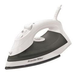 Hamilton Beach - Proctor-Silex Nonstick Iron Black - From proctor-silex this iron has a nonstick soleplate with concentrated steam vents for the toughest wrinkles. It features adjustable steam spray/blast vertical steam and automatic shutoff.