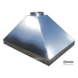 Stainless Steel Hood Vent - Wayland - Custom fabricated hood vent in 18GA stainless steel #4 finish