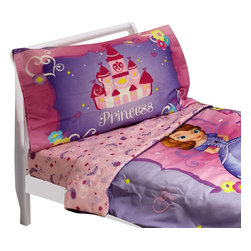 Crown Crafts Infant Products - Disney Sophia First Toddler Bedding Set Sweet Princess Bed - Features:
