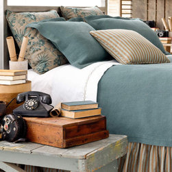 Products from High Camp Home - Notes of chocolate brown and sky blue look fresh and cool for an antique-inspired look that compliments rustic and refined styles alike.