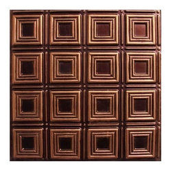"Decorative Ceiling Tiles - Dimensional Squares - Faux Tin Ceiling Tile - Glue up - 24""x24"" - #153 - Find copper, tin, aluminum and more styles of real metal ceiling tiles at affordable prices . We carry a huge selection and are always adding new style to our inventory."