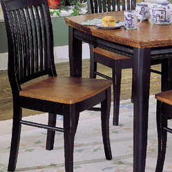Homelegance Liz Side Chair in Oak [Set of 2]