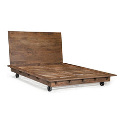 Oaktown Bed - Zuo Era. Queen 69w x 89d x 46h. King 85w x 90d x 46h. Available for order at Warehouse 74.