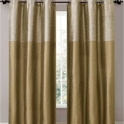 Victoria Classics - Victoria Classics Lancaster Grommet Curtain Panel Pair - LCG-PPR-8084-I2-RD - Shop for Curtains and Drapes from Hayneedle.com! With its raw silk look and rich color options the Victoria Classics Lancaster Grommet Curtain Panel Pair frames your window in elegance. This curtain panel pair has the look and feel of raw silk yet is made of durable polyester. It features a wide tonal stripe above and solid color below. Comes in your choice of sophisticated color combinations and features a metal grommet design for a clean contemporary look and easy hanging.