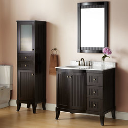 "36"" Palmetto Espresso Vanity - Distinguish your bathroom with the 36"" Palmetto Vanity, which flaunts a dramatic Espresso finish and ample storage for bath linens and toiletries."