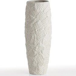 Arteriors Tully Patchwork Knit Porcelain Vase -