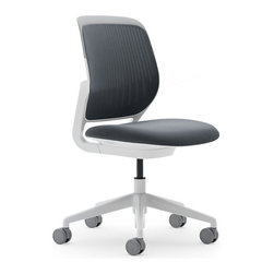 Steelcase - Steelcase Cobi Chair, White Steelcase Cobi Chair - Nimble is as nimble does. This chair encourages agile responses to whatever comes your way at work. It's sleek and simple, so it can roll into meetings easily. Comfy enough to let you settle into the task in front of you. And supportive enough to allow you to change your position frequently without looking awkward.