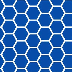 "SheetWorld - SheetWorld Fitted Pack N Play (Graco) Sheet - Royal Blue Honeycomb - Made in USA - This beautiful 100% cotton ""woven"" pack n play sheet features a royal blue and white honeycomb print. Size of each comb is about 1 inch. Our sheets are made of the highest quality fabric which are soft and durable. They have deep pockets and are elasticized around the entire edge which prevents it from slipping off the mattress, thereby keeping your baby safe. These sheets are so durable that they will last all through your baby's growing years. We're called SheetWorld because we produce the highest grade sheets on the market. Size: 27 x 39. Not a Graco product. Sheet is sized to fit the Graco playard. Graco is a registered trademark of Graco."
