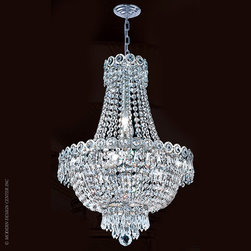Worldwide Lighting Empire Chandelier W83049C16 - Worldwide Lighting Empire Collection 8 light Chrome Finish and Clear Crystal Mini Chandelier