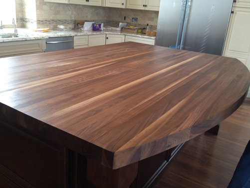 how to seal butcher block island top