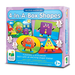 Learning Journey - Learning Journey My First Match It! 4-In-A-Box Shapes - 632413 - Shop for Learning and Education from Hayneedle.com! The Learning Journey Step Ups! 4-In-A-Box Shapes is a set of four fun puzzles that help teach shapes. These puzzle pieces are perfect for tiny hands and will help develop fine motor skills.About The Learning Journey InternationalThe Learning Journey designs and manufactures the finest in children's interactive educational toys and games. Each of the company's products develops and builds on necessary skills children need for school and beyond. The company has won a number of awards cementing the Learning Journey's reputation as one of the finest designers and distributors of educational toys in the United States -- and worldwide.