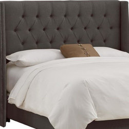 Home Decorators Collection - Custom Blakely Upholstered Headboard - Beautifully winged, our Custom Blakely Upholstered Headboard offers a dramatic look that elevates the style of any bedroom. Choose from a wide range of top-quality fabric options to create the winged headboard that is perfect for your room. Includes hardware to attach to most standard bed frames. Assembled to order in the USA and delivered in 4-6 weeks. Spot clean only.