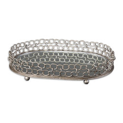 Uttermost - Uttermost 19670 Lieven Mirrored Decorative Tray - Uttermost 19670 Lieven Mirrored Decorative Tray