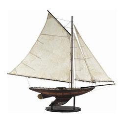 Authentic Models - Authentic Model Ironsides Yacht Sailboats - If you are looking for a model ship with& tremendous appeal, here you got one! Let this small and large yacht sailboat add charm to your home or office. Its wood, walnut finish, brass antique hardware and cotton sails makes this ship a true asset to behold and display. Dimensions for small: 39 inches long by 5.75 inches wide and 34 inches tall. Large: