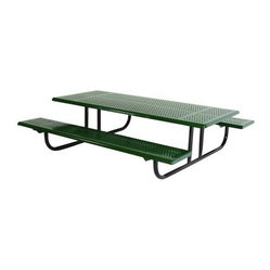 SportsPlay Early Years 6 ft. Perforated Thermoplastic Steel Picnic Table