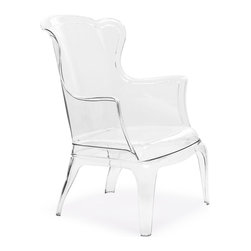 Zuo Modern - Vision Chair - This solid polycarbonate chair can be a modern statement piece indoors or outdoors.  The fabric cushion is indoors only.