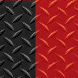 "buyMATS Inc. - 3' x 10' Diamond Foot 9/16"" Black/Red - Features:"