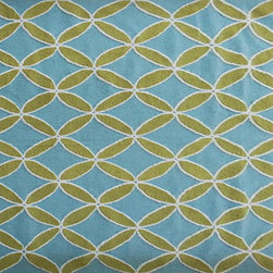 The Rug Market - DIAMONDS GREEN ,Area Rug ,size   7X10 - This contemporary rug is made of UV Poly and will surely add color to any space