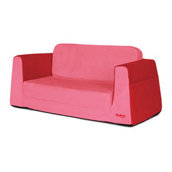 "P'kolino - Little Sofa / Sleeper - Red - The Little Reader Sofa, is the perfect companion to the Little Reader chair, with its wide base and strong angular lines makes this sofa attactive and supremely sturdy. Comfy foam, supple fabric, book pockets and easy to fold out sleeper, creates the perfect combination for a little quiet-time. This durable sofa is made with the highest quality materials. Constructed with premium high density foam and upholstered in cozy, stain resistent fabrics.; Multi-use: sofa and Sleeper; Stylish and Functional size and looks; Pockets for books and small toys; Playfully designed for children age 2 and up; Quality construction; Weight: 10 lbs.; 90 Days Warranty; Dimensions: 12""H x 30""W x 17""D"