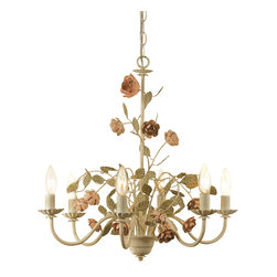 Elements - Elements Ramblin' Rose Modern / Contemporary Chandelier X-H6-0507 - Explore your inner creativity by decorating the room with this organic looking chandelier. The AF Lighting Ramblin' Rose contemporary chandelier is handmade and unique. It features a bouquet of roses arranged in a glamorous way. Place this chandelier in the center of any room space for an attractive looking home.