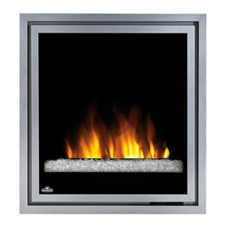 Dimplex - Napoleon 30-in Plug-In Electric Fireplace Insert w/ Glass Embers - EF30G - The Napoleon 30-inch Plug-In Electric Fireplace EF30G offers contemporary styling at an affordable price. This insert features a glass ember bed, realistic flame effect, and multi-function remote control. The EF30G provides supplemental heat for up to 400 square feet. A 1 year warranty is included.