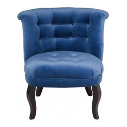 Velvet Tub Chair - This wonderfully luxurious velvet chair is available in several shades of blue.