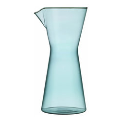 Iittala - Kartio Carafe/Pitcher, Sea Blue - Of course it's nice to surround yourself with pretty things. But when these objects also perform flawlessly — this easy-pour carafe being a case in point — they reconnect you to the easy flow that life should ultimately have.