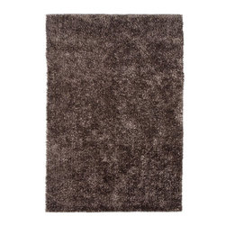 Jaipur Rugs - Shag Solid Pattern Polyester Brown/ Area Rug (3.6 x 5.6) - Personal expression reaches new heights with flux, a beautiful range of plush, hand-woven shag rugs of 100% polyester. This chameleon is ideal for the contemporary design lover who enjoys mixing up his or her personal space often acting as a rich background to a diverse palette of furnishings and accessories. Highly textured shag construction brings comfort underfoot while a palette of fashion forward solid hues commands attention in any room.